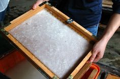 Make your own paper.  Maybe the next rainy day in Phoenix, oh that will be months. Looks fun though.