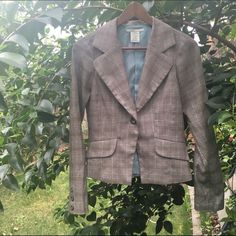 Tweed plaid blazer Gorgeous tweed plaid patterned blazer. Perfect when paired with jeans or slacks. Small three pulled on arm (pictured) but barely noticeable. Hot Kiss Jackets & Coats Blazers
