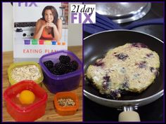 Blackberry Breakfast Cake #21dayfix meal 1 yellow, 1 purple, 1 red, 1/2 orange Interested in the 21 Day Fix?  Get it here: http://www.teambeachbody.com/shop/-/shopping/21DayFix?referringRepId=340323   fb.com/coachShannonMoholland  https://www.teambeachbody.com/tbbsignup/-/tbbsignup/free/340323