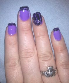 Purple Crackle Tips and Accent Nail Crackle Nails, All Things Purple, Accent Nails, How To Do Nails, Pretty Nails, Hair And Nails, Nail Ideas, Confetti, Addiction