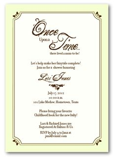 Storybook Baby Shower Invitations from Zazzlecom Princess nursery