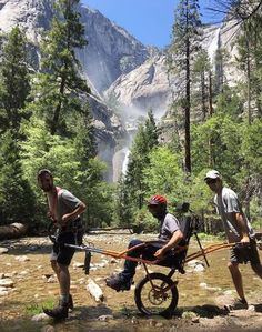 At Yosemite >>> See it. Believe it. Do it. Watch thousands of spinal cord injury videos at SPINALpedia.com Spinal Cord Injury, See It, Mountains, Watch, Videos, Travel, Clock, Viajes, Bracelet Watch