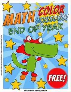 Math, Colors, Scissors - 005 - End of Year - FREE - Common Core AlignedYour students can now celebrate the End of the School Year and do Math at the same time!With this product your students will decorate your class with fun Halloween pennants at the same time as they review the following Common Core Standards:2.NBT.5 Your students will solve the math problems and color the pictures following the code.