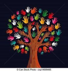 diversity hands artwork   hands - stock illustration, royalty free illustrations, stock clip art ...