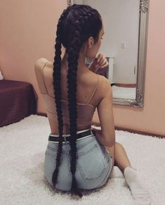 Box Braids Hairstyles, Cool Hairstyles, Black Hair Inspiration, Sacs Louis Vuiton, Curly Hair Styles, Natural Hair Styles, Head Scarf Styles, Aesthetic Hair, Very Long Hair