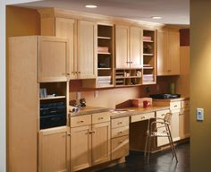 Shaker Cabinets In Home Office By Aristokraft Cabinetry