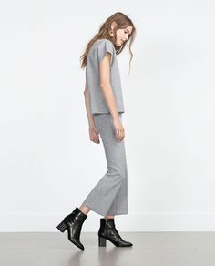 CROPPED TROUSERS - Trousers - WOMAN | ZARA United States