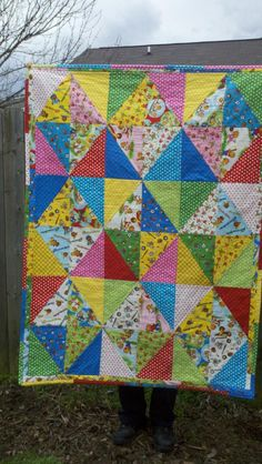 Carrie made this quilt for her 2-year-old niece ... her third quilt!