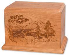 Urns Northwest  - Laser Carved Deer Urn, $259.00 (http://urnsnw.com/laser-carved-deer-urn/)