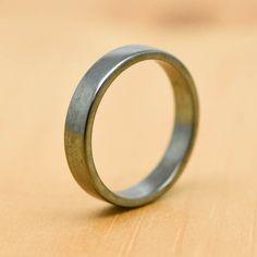Wedding Band Ring Engagement Mens Man Men Promise Oxidized