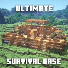 Minecraft Bauwerke, Minecraft Kunst, Minecraft Building Guide, Cute Minecraft Houses, Minecraft House Tutorials, Minecraft Houses Survival, Amazing Minecraft, Minecraft House Designs, Minecraft Construction
