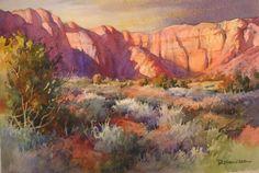 Roland Lee – Red Desert Vista Painting
