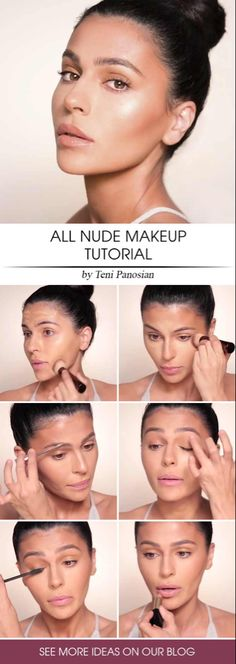 All Nude Makeup Tutorial stepbystepmakeup Nude makeup ideas for natural looks in a simple step by step tutorial with lipstick, eyeliner, and contours. Simple Eye Makeup, Eye Makeup Tips, Natural Makeup, Makeup Ideas, Makeup Tricks, Henna Designs, Makeup Tutorial Eyeliner, Eyeshadow Tutorials, Eyeliner Ideas