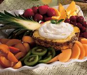 Fruit Tray with Pineapple Cream Dip Recipe