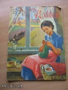 Kotiliesi N:o 19 1949 kansi Martta Wendelin - Sara Kay, Art Forms, Finland, Martini, Childrens Books, Illustrators, Scandinavian, Fairy Tales, Diy And Crafts