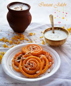 Learn step by step instant jalebi recipe with yeast. Instant jalebi is a delicious, crunchy and melt in mouth spiral pancakes soaked in saffron syrup.