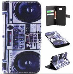 Cassette Player Leather Wallet Case Flip Cover for Samsung Galaxy S5 S6 Edge Plus Note 4 Note 5