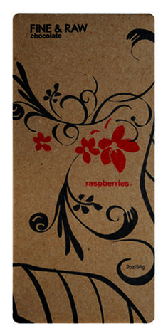 Fine & Raw Chocolate - Beautifully simple illustration direct on kraft paper