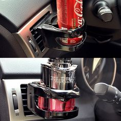 FOURING BL Car Air Vent Mount Drink Cup Bottle Holder Vehicle Black Car accessories