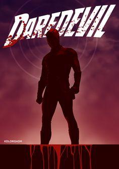 Daredevil (2015–) ~ Minimal TV Series Poster by Romel Biescas #amusementphile