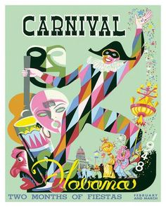 Carnival Havana: Two Months of Fiestas - Cuba c.1948 Giclee Print by E. Caravia at Art.co.uk