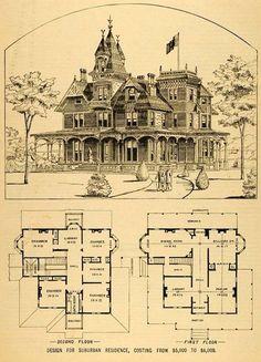 Проект городской резиденции. Цена от 5 до 6 тысяч долларов :)
