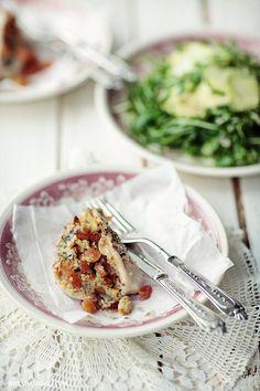Kieszenie z kurczaka z kaszą jaglaną i morelami   Kwestia Smaku