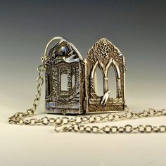 The Ruins Limited Edition Pendant. $895.00, via Etsy. Beautiful PMC clay work by Christi Anderson.