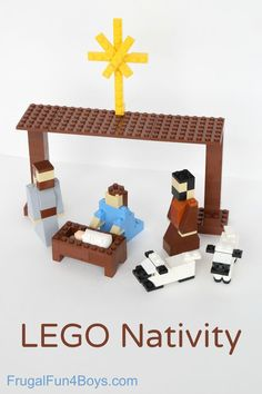 How to build a LEGO nativity set - great idea for a Christmas decoration that kids can be involved in