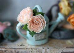 Dollhouse miniature flowers- Summer dream by CheilysMiniature on Etsy