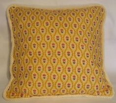 French Country Cottage Yellow Petit Floral Pillow Provence