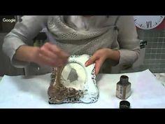 Декупаж -нанесение патины на рамку, состаривание бумаги. Анна Стойчева