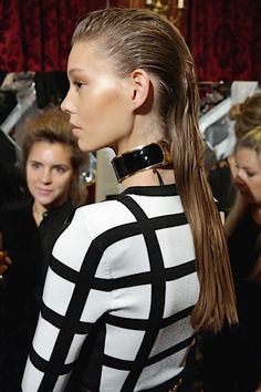 Sam McKnight: Hair At Balmain Spring 2015 (Vogue.com UK)