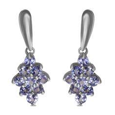 Ebay NissoniJewelry presents - Tanzanite Silver Earrings    Model Number:EV5244-SILTA    http://www.ebay.com/itm/Tanzanite-Silver-Earrings-/222062058745