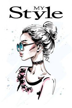 Ручной рисунок красивого профиля молодой женщины. Стильная элегантная блондинка в солнечных очках. Женский портрет. Рисунок . — стоковая иллюстрация Face Profile Drawing, Hair Illustration, Hair Sketch, Woman Drawing, Woman Sketch, Girl With Sunglasses, Female Profile, Portrait Sketches, Fashion Design Drawings