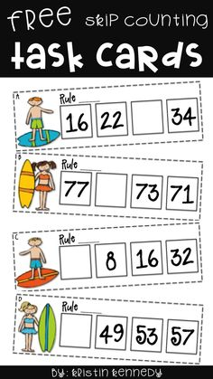 Looking for ideas & activities for teaching number Teaching Numbers, Math Numbers, Teaching Math, Teaching Ideas, Skip Counting Activities, Math Games, Math Activities, Math Patterns, Number Patterns
