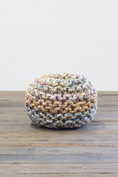 RECYCLED FABRIC POUF # 3