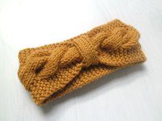 Knit headband braided headband turban cable knit by TheHuggingYarn ✿ Crochet Boots, Knit Crochet, Hippie Crochet, Fall Accessories, Knitted Headband, Head Wraps, Cable Knit, Headbands, Knitwear