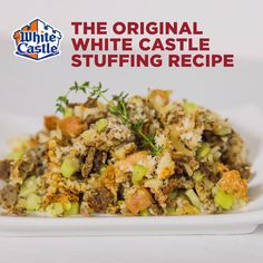A unique and tasty twist on a classic dish. Bring our Slider Stuffing recipe to the table and watch for the smiles. Thanksgiving Sides, Thanksgiving Recipes, Holiday Recipes, Dinner Recipes, Turkey Recipes, Great Recipes, Favorite Recipes, Pasta, Casserole Recipes