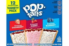 Pop-Tarts Variety Pack 12 Count Only $3.15! Blueberry Frosting, Strawberry Frosting, Yummy Snacks, Yummy Treats, Discount Grocery, Balanced Breakfast, Snacks For Work, Pop Tarts, Gourmet Recipes