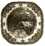 Johnson Brothers Friendly Village 7.75-Inch Square Salad Plate by Johnson Brothers. $7.99. 7.75 inches. Made in China. Durable for everyday use, microwave, freezer, and dishwasher safe. Johnson Brothers has Over a 100 years of experience in producing dinnerware and is know for its rich English Heritage and high quality Earthenware products. Friendly Village by Johnson Brothers, introduced back in 1952 depicts engravings which reflect English craftsmanship.   This unique and ...