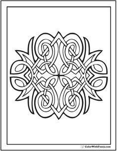 Celtic Coloring Pages Diamond Design
