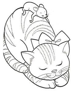 Kočka a Myš omalovánka