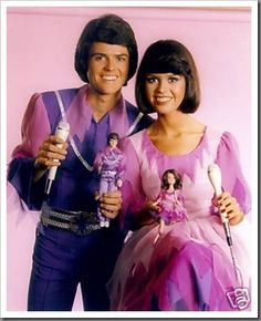 Donny & Marie plus the dolls they are holding!