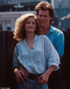 young Kevin Bacon and Kyra Sedgwick