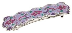 L Erickson Floral Romance Barrette  Purple *** You can get more details by clicking on the image.(This is an Amazon affiliate link and I receive a commission for the sales)