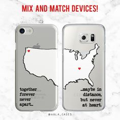 Couples Phone Case iPhone 8 Plus Case X 7 Samsung Galaxy Case Best Friend Phone Case Long Distance Gifts for Her TPU Bff Iphone Cases, Bff Cases, Couples Phone Cases, Couple Cases, Funny Phone Cases, Diy Phone Case, Best Friend Cases, Friends Phone Case, Best Friends