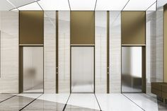 3d rendering modern steel elevator lift ... | Premium Photo #Freepik #photo Elevator Lobby Design, Hotel Lobby Design, Lift Design, Cabin Design, Modern Hotel Lobby, Apartment Entrance, Hall Design, Corridor Design, Lobby Interior