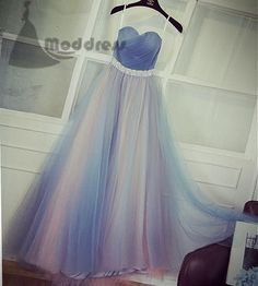 elegant strapless long prom dress blue bridesmaid dress sweetheart tulle evening dress,HS353 #fashion#promdress#eveningdress#promgowns#cocktaildress