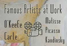 VIDEO FOOTAGE ::: Famous Artists at Work in their Art Studio 3 - at www.milliande.com/famous-artists-at-work-in-their-art-studio-3.html , a Peek at Famous Artist Studios  Georgia O'Keefe, Eric Carle, Henri Matisse, Pablo Picasso, Wassili Kandinski Video Footage